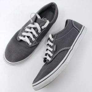 Vans Skateboard Sneakers Shoes Size 7 Grey White